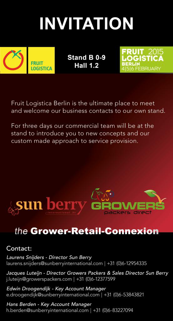 INVITATION FRUIT LOGISTICA BERLIN 2015